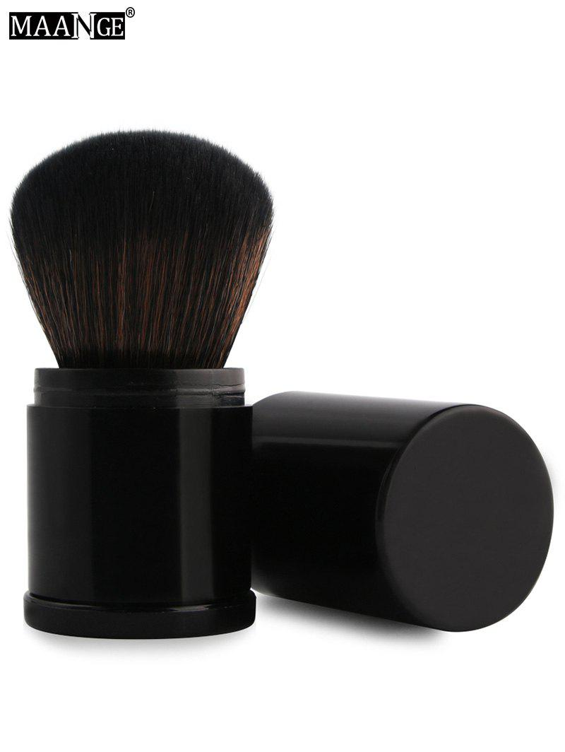MAANGE Telescopic Tube Nylon Blush BrushBEAUTY<br><br>Color: BLACK; Category: Blush Brush; Brush Hair Material: Synthetic Hair; Features: Travel; Length: 8.3cm; Weight: 0.0510kg; Package Contents: 1 x Brush;
