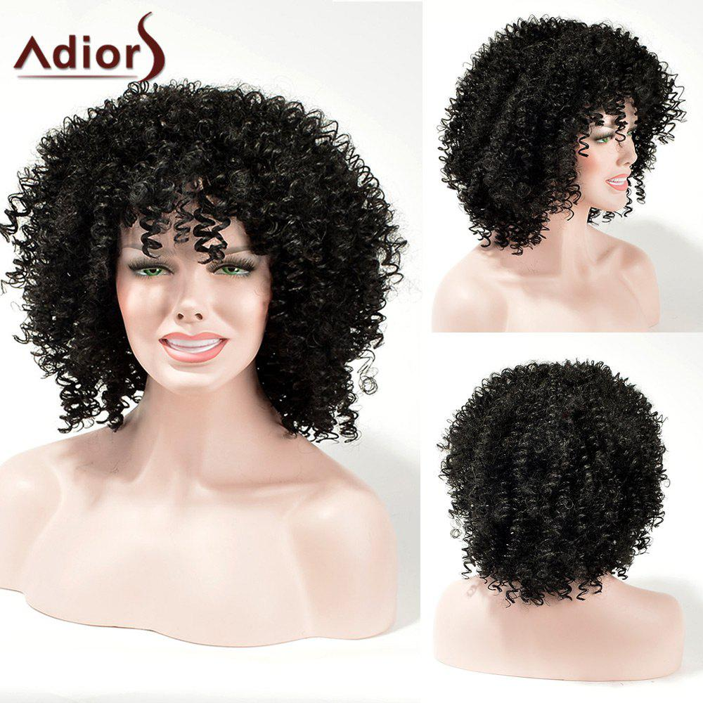 2018 Adiors Fluffy Kinky Curly Weave Medium Synthetic Hair In Black