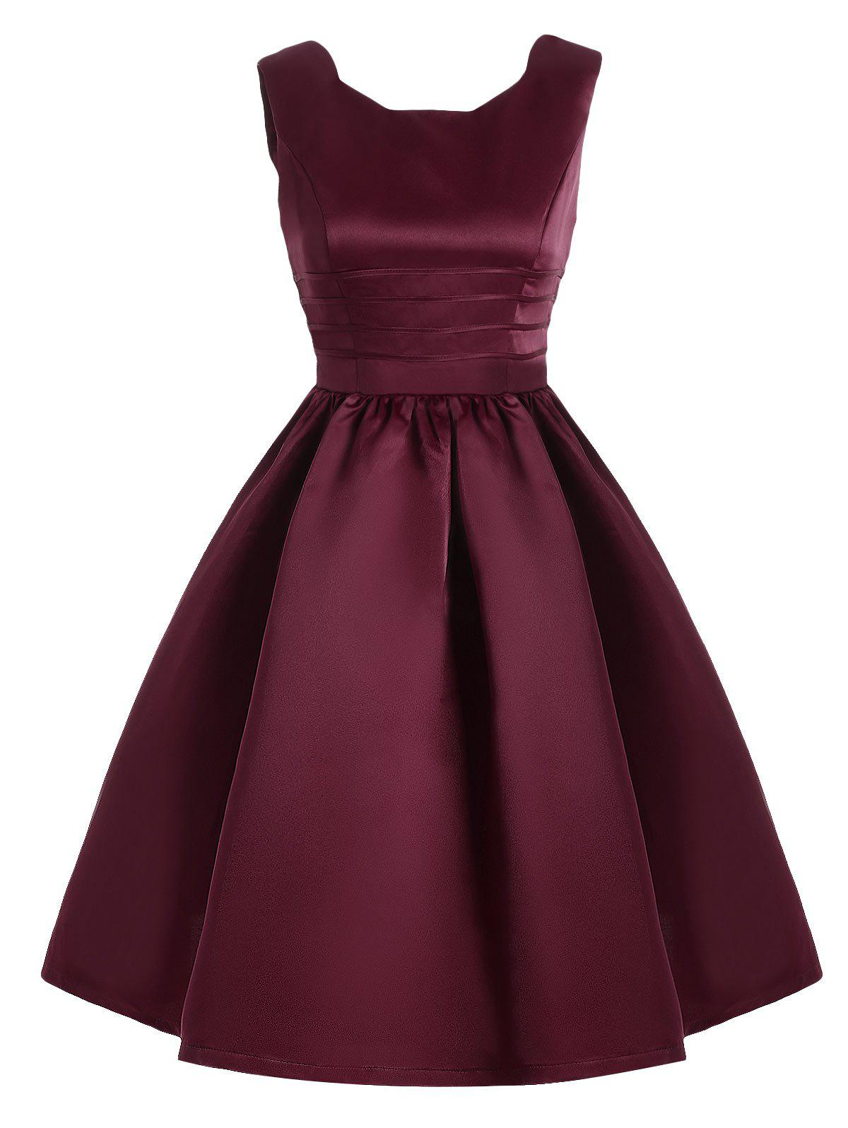 New Sweetheart Neck Vintage Fit and Flare Dress