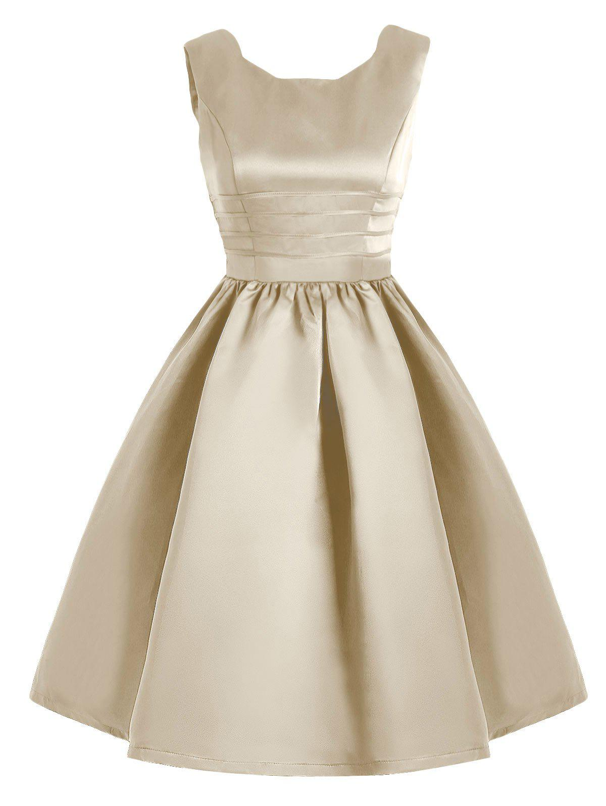 Affordable Sweetheart Neck Vintage Fit and Flare Dress