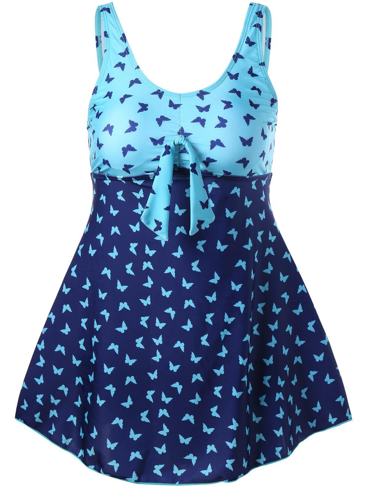 Fancy Padded Butterfly Print Tankini Set