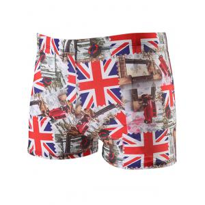 The Union Jack Pattern Lace Up Swimming Trunks