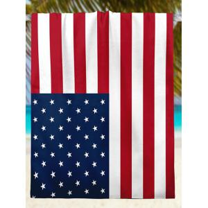 Modern Style Patriotic American Flag Beach Throw - MULTICOLOR XS