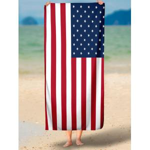 Modern Style Patriotic American Flag Beach Throw -
