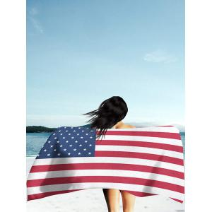 Modern Style Patriotic American Flag Beach Throw - Multicolor - 2xl