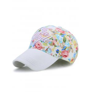 Letters Embroidery Floral Printing Baseball Hat