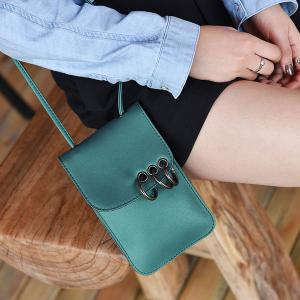 Eyelet Metal Rings Mini Crossbody Bag -
