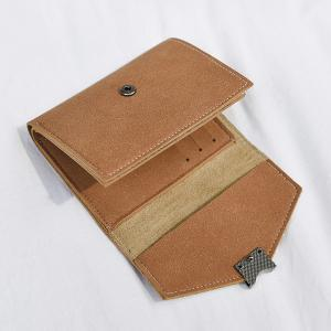 Suede Tri Fold Small Wallet -