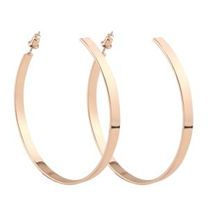 Plating Stud Hoop Earrings - Golden