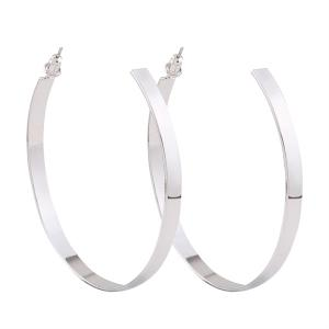 Plating Stud Hoop Earrings