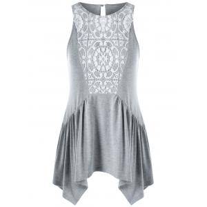 Lace Insert Swing Tank Top