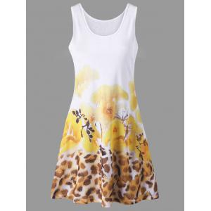 Floral with Leopard Tank Dress