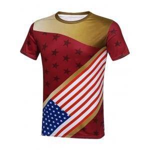 Star and Stripes American Flag T-Shirt - Colormix - 3xl
