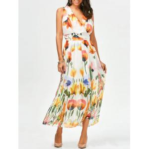 Sleeveless Floral Maxi Summer Swing Dress