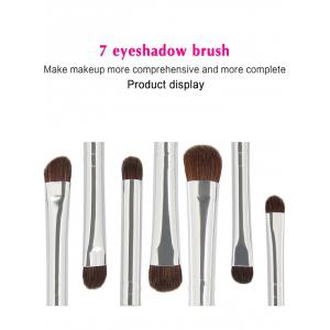 MAANGE 7 Pcs Horse Hair Eye Makeup Brushes Set - PINK