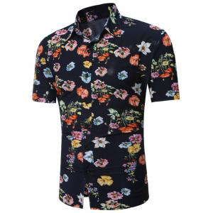 All Over Flowers Printed Hawaiian Shirt