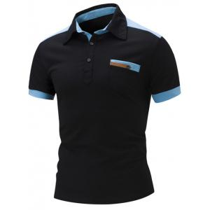 Slim Fit Color Block Polo Shirt