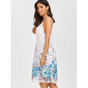 Floral Chiffon Slip Swing Shift Dress - FLORAL XL