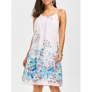 Floral Chiffon Slip Dress - Floral - S