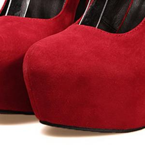 Laconic Party Solid Color and Cross Straps Design Women's Pumps - RED 39
