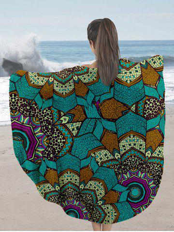 Outfits Milk Silk Fabric Round Beach Throw with Mandala Print