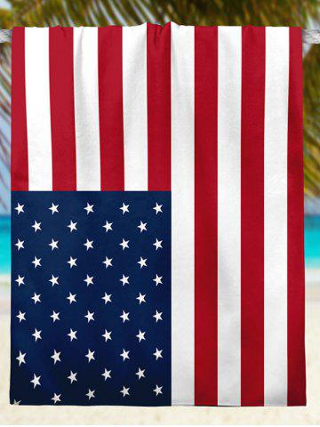 Shops Modern Style Patriotic American Flag Beach Throw - S MULTICOLOR Mobile