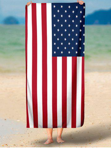 Store Modern Style Patriotic American Flag Beach Throw - S MULTICOLOR Mobile