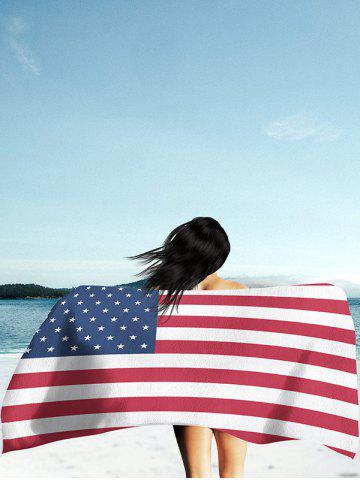 Store Modern Style Patriotic American Flag Beach Throw