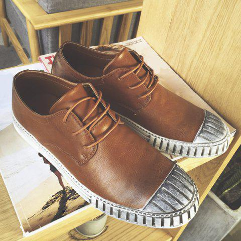 Outfits Colour Block Stripes Casual Shoes - 40 BROWN Mobile