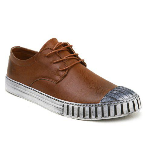 Outfit Colour Block Stripes Casual Shoes - 40 BROWN Mobile
