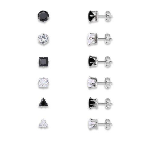 Sale Rhinestoned Geometric Stud Earrings Set MULTICOLOR