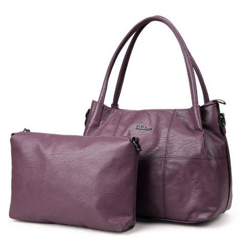 Buy 2 Pieces Stitching Crossbody Shoulder Bag PURPLE