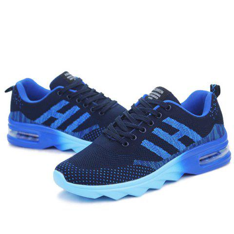 Latest Breathable Multicolor Athletic Shoes - 40 DEEP BLUE Mobile
