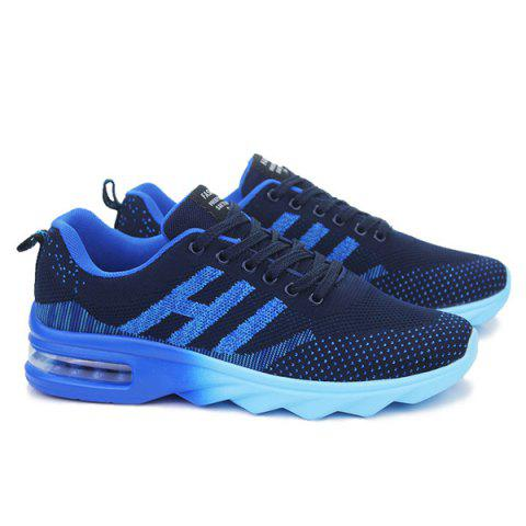 New Breathable Multicolor Athletic Shoes - 40 DEEP BLUE Mobile