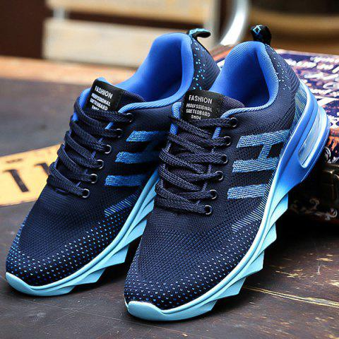 Online Breathable Multicolor Athletic Shoes - 40 DEEP BLUE Mobile
