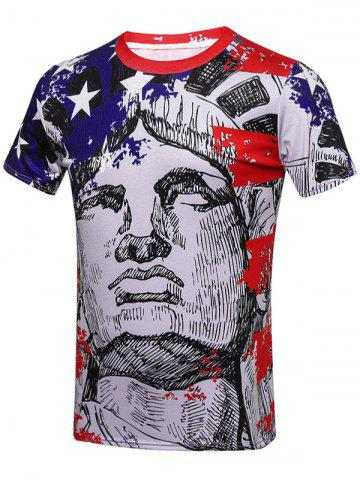 Best Sketching Figures Patriotic T-Shirts - 3XL COLORMIX Mobile