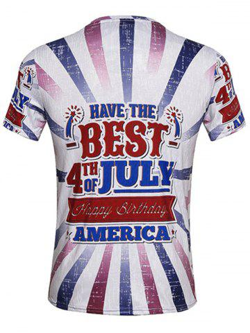 Outfit Independence Day Graphic T-Shirt - XL COLORMIX Mobile
