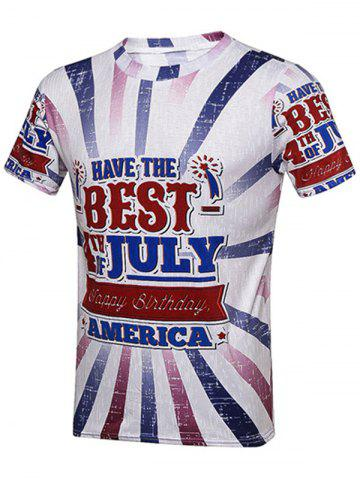Cheap Independence Day Graphic T-Shirt - XL COLORMIX Mobile