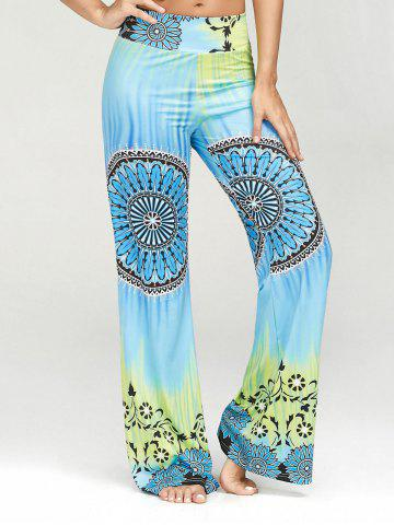 Unique Ethnic Print High Waisted Palazzo Pants - XL MULTI Mobile