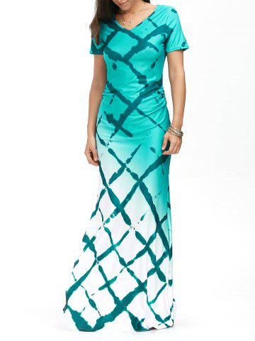 Outfit Floor Length Ombre Mermaid Prom Summer Dress - L COLORMIX Mobile