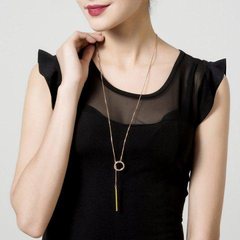 Shops Bar Circle Minimalist Lariat Necklace - ROSE GOLD  Mobile