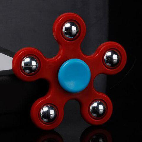 Fancy Focus Toy Ball Bearing Fidget Spinner RED