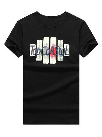 Outfit Letter Print Slim Fit T-Shirt