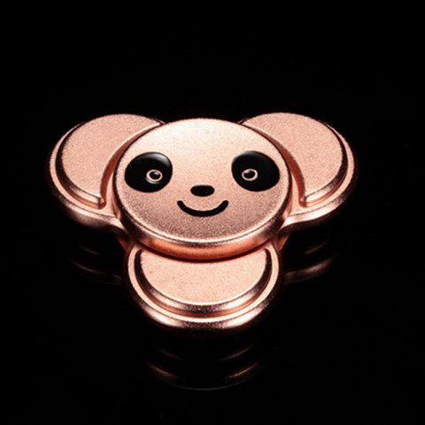 Latest Stress Relief Toy Panda Pattern Metal Finger Gyro ROSE GOLD 6*6CM