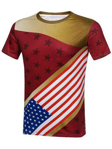 Online Star and Stripes American Flag T-Shirt COLORMIX 2XL