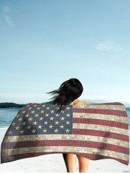 Rétro Mosaïque American Flag Print Beach Throw -