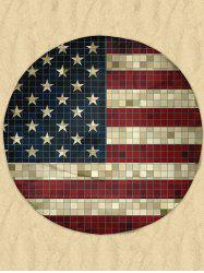 Mosaic Patriotic American Flag Round Milk Silk Fabric Beach Throw