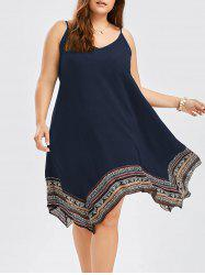 Plus Size Asymmetrical Slip Dress