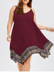 Plus Size Asymmetrical Slip Dress -
