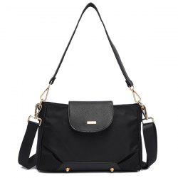 PU Leather Insert Shoulder Bag